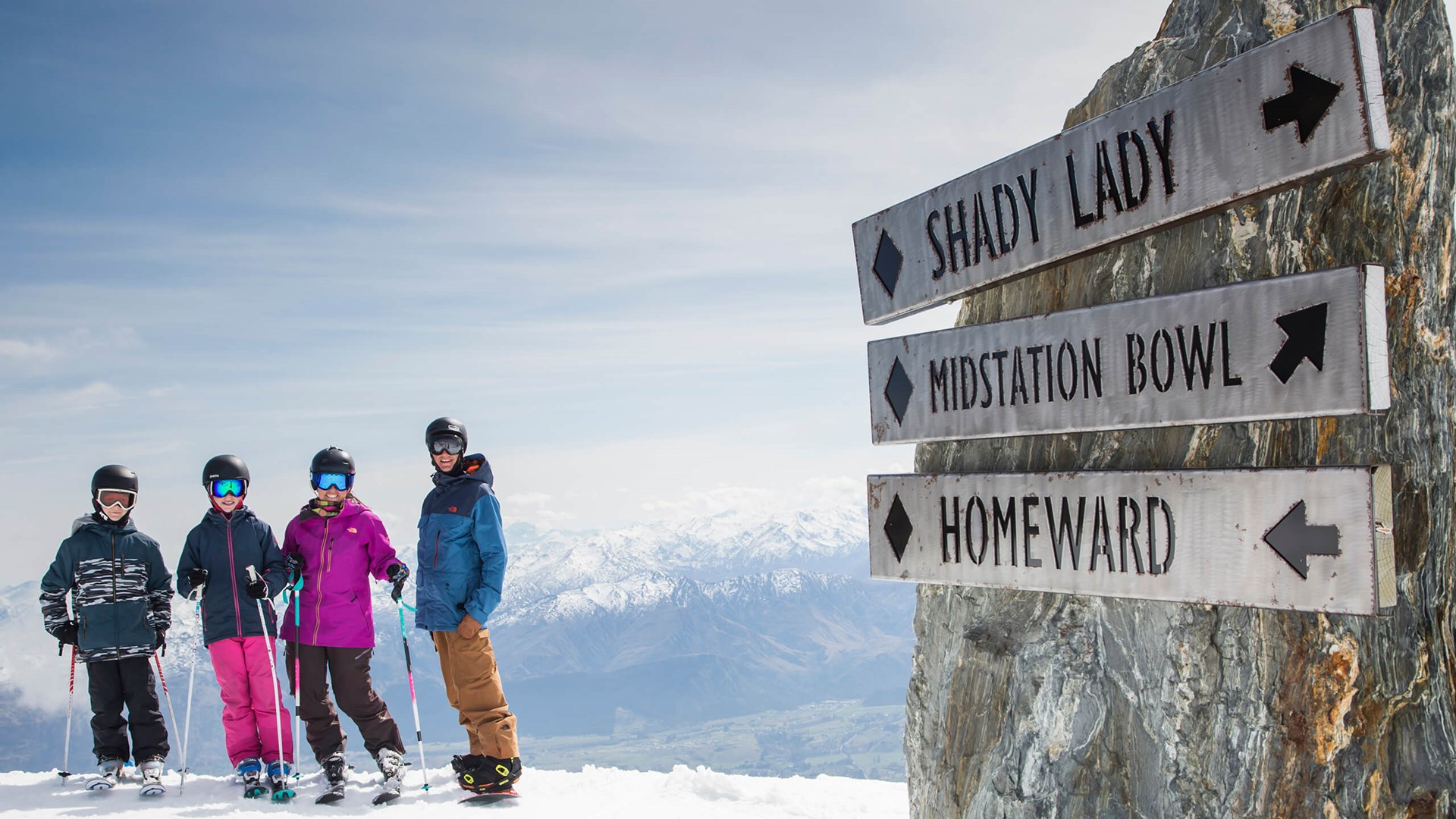 Family Skiing at The Remarkables